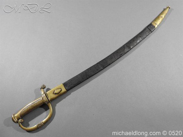 michaeldlong.com 8375 600x450 French 1821 30 Pattern Guard Nationale Infantry Sidearm 74