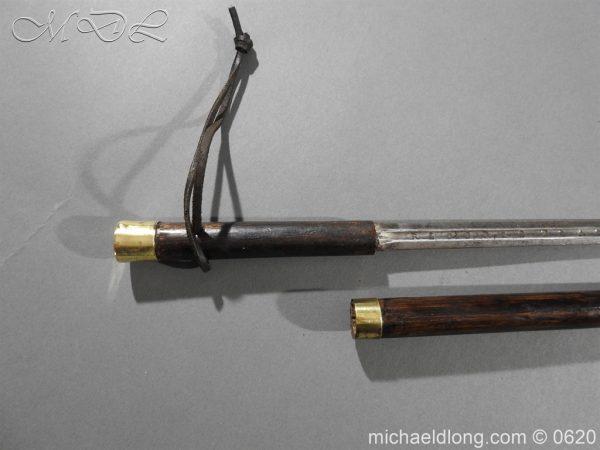 michaeldlong.com 8577 600x450 Victorian Gentlemens Sword Stick 17c Blade