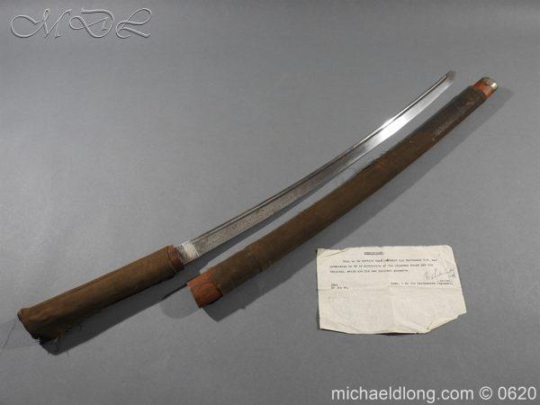 michaeldlong.com 8732 600x450 Japanese Officer's WW2 Sword Blade in Shirasaya