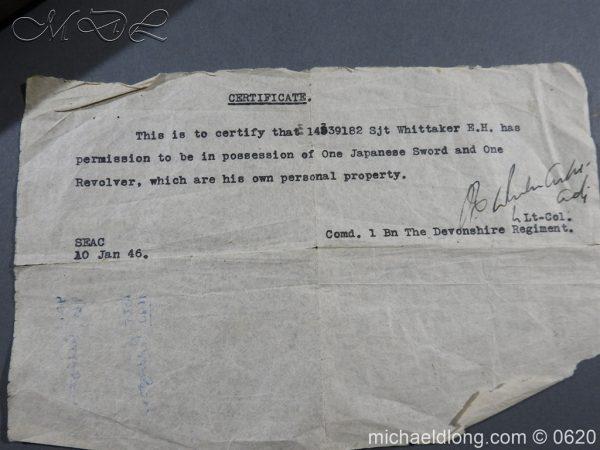 michaeldlong.com 8736 600x450 Japanese Officer's WW2 Sword Blade in Shirasaya