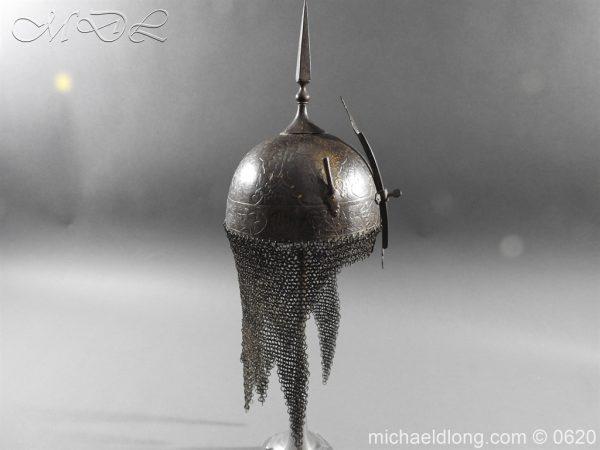 michaeldlong.com 9112 600x450 Indo Persian Kula Khud Helmet 19c