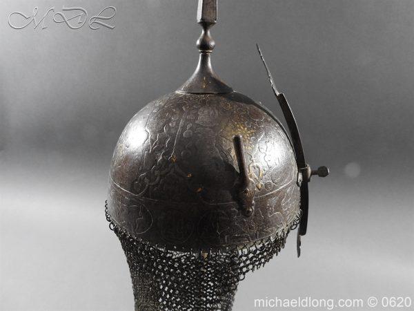 michaeldlong.com 9113 600x450 Indo Persian Kula Khud Helmet 19c