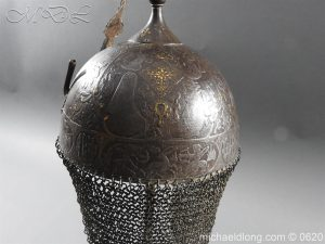 michaeldlong.com 9117 300x225 Indo Persian Kula Khud Helmet 19c