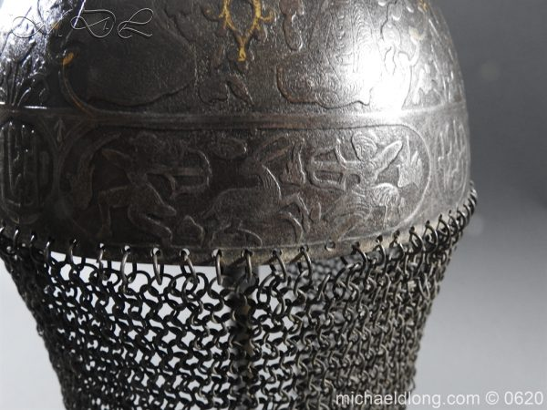 michaeldlong.com 9118 600x450 Indo Persian Kula Khud Helmet 19c