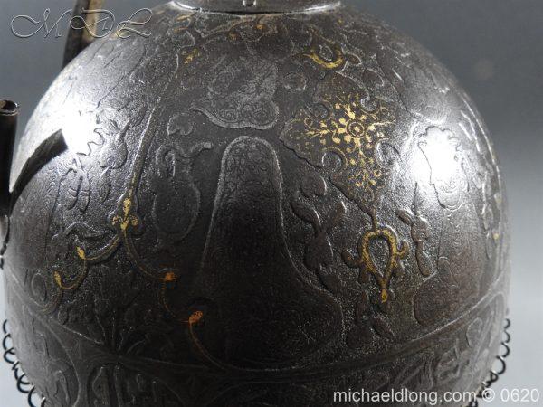 michaeldlong.com 9119 600x450 Indo Persian Kula Khud Helmet 19c