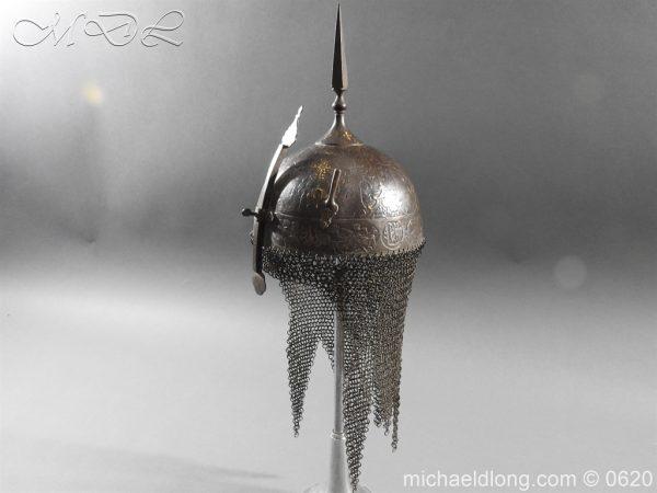 michaeldlong.com 9120 600x450 Indo Persian Kula Khud Helmet 19c