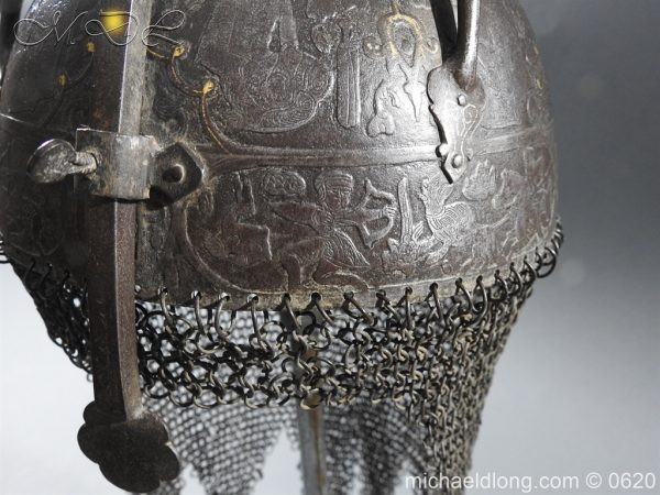 michaeldlong.com 9125 600x450 Indo Persian Kula Khud Helmet 19c