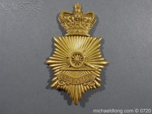 Royal Regiment of Artillery Victorian NCO's bell-top shako plate