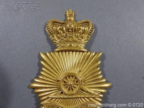 michaeldlong.com 10105 600x450 Royal Regiment of Artillery Victorian NCO's Bell Top Shako Plate
