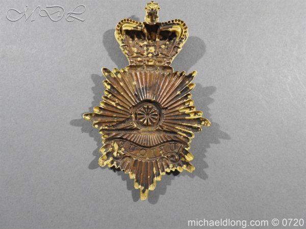 michaeldlong.com 10106 600x450 Royal Regiment of Artillery Victorian NCO's Bell Top Shako Plate