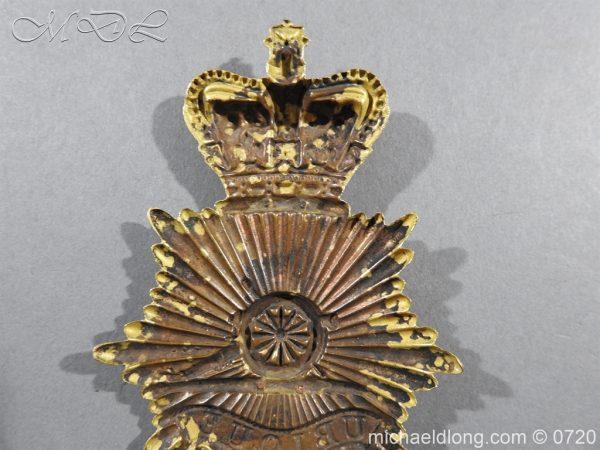 michaeldlong.com 10108 600x450 Royal Regiment of Artillery Victorian NCO's Bell Top Shako Plate