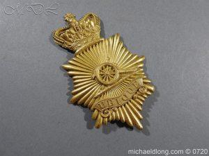 michaeldlong.com 10109 300x225 Royal Regiment of Artillery Victorian NCO's Bell Top Shako Plate