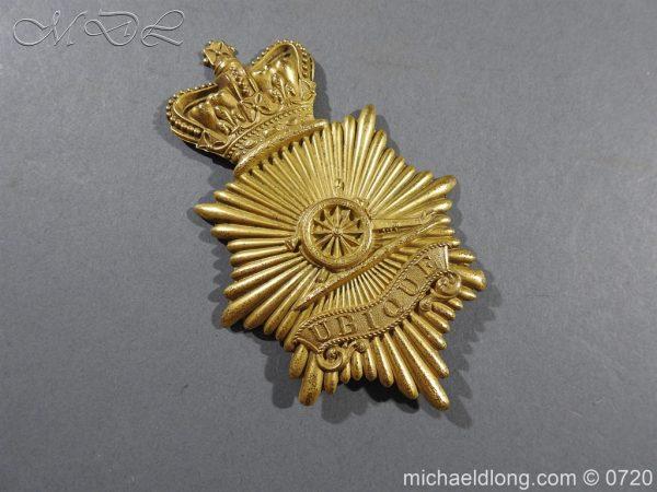 michaeldlong.com 10109 600x450 Royal Regiment of Artillery Victorian NCO's Bell Top Shako Plate