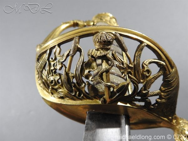 michaeldlong.com 9359 600x450 Royal Netherlands Officer's Naval Sword by Prosser
