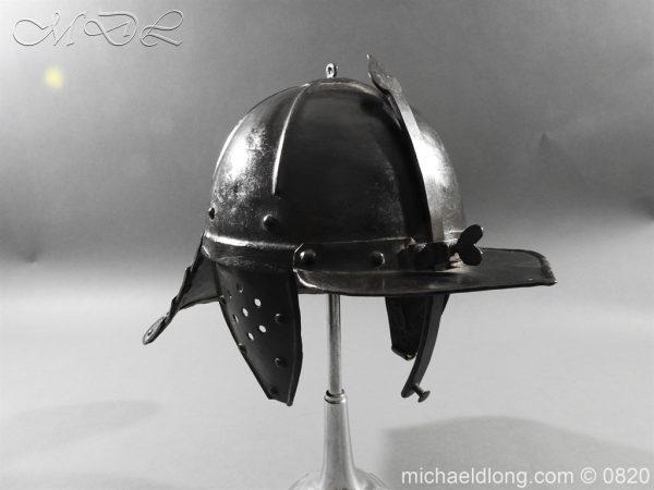michaeldlong.com 10293 600x450 English Civil War Lobster Tailed Helmet