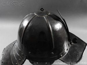 michaeldlong.com 10295 300x225 English Civil War Lobster Tailed Helmet