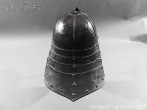 michaeldlong.com 10296 300x225 English Civil War Lobster Tailed Helmet