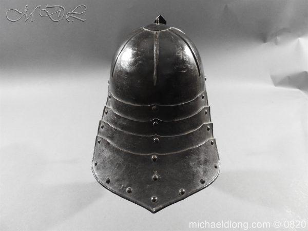 michaeldlong.com 10296 600x450 English Civil War Lobster Tailed Helmet