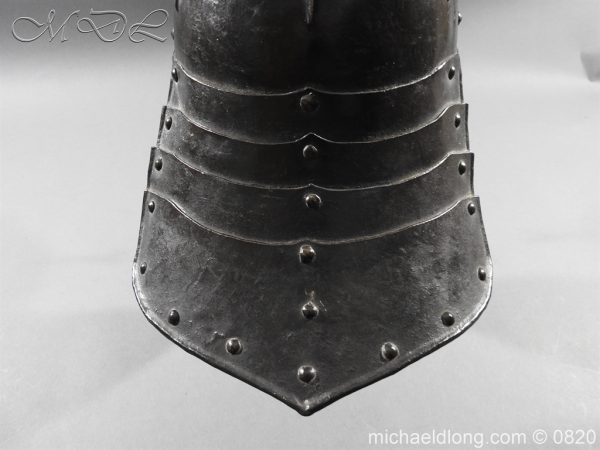 michaeldlong.com 10297 600x450 English Civil War Lobster Tailed Helmet