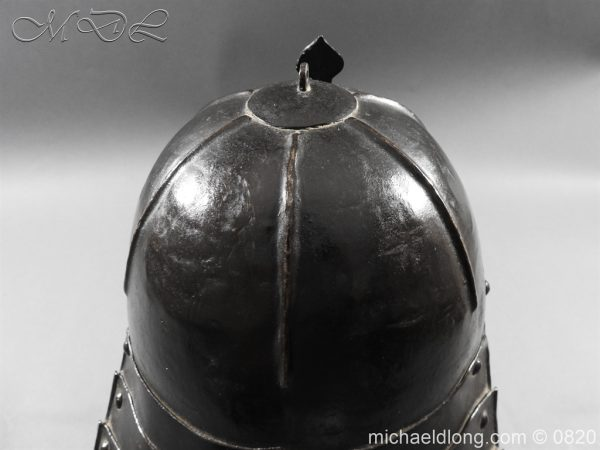 michaeldlong.com 10298 600x450 English Civil War Lobster Tailed Helmet