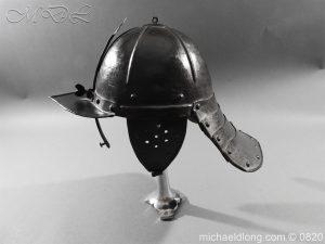 michaeldlong.com 10300 300x225 English Civil War Lobster Tailed Helmet