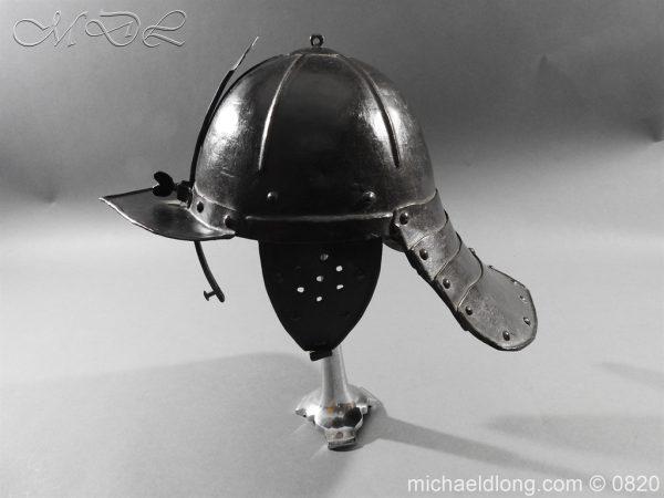 michaeldlong.com 10300 600x450 English Civil War Lobster Tailed Helmet