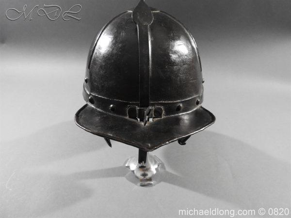 michaeldlong.com 10301 600x450 English Civil War Lobster Tailed Helmet