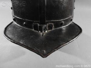 michaeldlong.com 10302 300x225 English Civil War Lobster Tailed Helmet