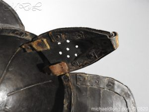 michaeldlong.com 10305 300x225 English Civil War Lobster Tailed Helmet