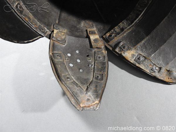 michaeldlong.com 10307 600x450 English Civil War Lobster Tailed Helmet