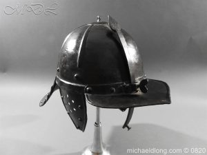michaeldlong.com 10311 300x225 English Civil War Lobster Tailed Helmet