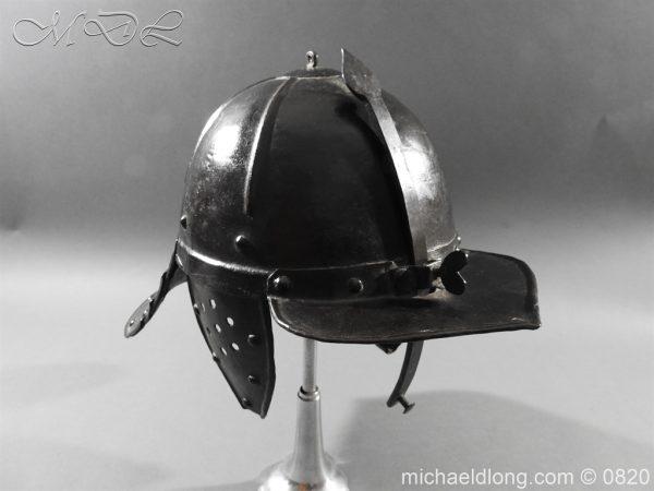 michaeldlong.com 10311 600x450 English Civil War Lobster Tailed Helmet