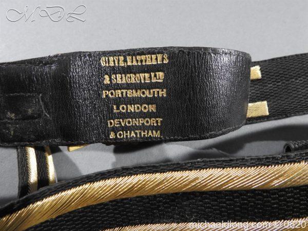michaeldlong.com 10362 600x450 Royal Naval Officer's Full Dress Belt