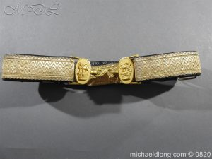 Royal Artillery Victorian Officer's Dress Belt