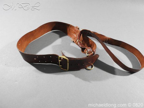 michaeldlong.com 10398 600x450 British Officer's Sam Brown Belt and Strap