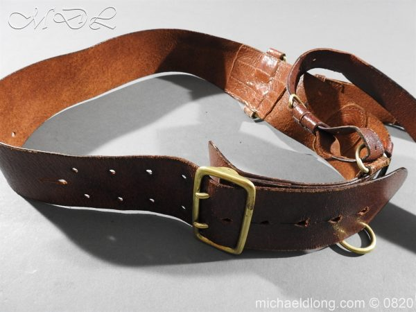 michaeldlong.com 10399 600x450 British Officer's Sam Brown Belt and Strap
