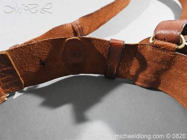 michaeldlong.com 10402 600x450 British Officer's Sam Brown Belt and Strap