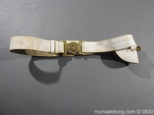 British White Buff Leather Victorian Belt