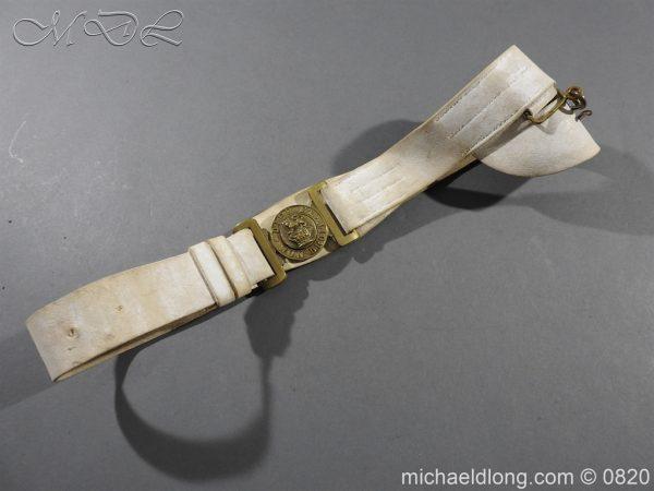 michaeldlong.com 10413 600x450 British White Buff Leather Military Victorian Belt