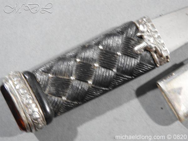 michaeldlong.com 10494 600x450 Cameron Highlanders Volunteer Sgian Dubh Silver Mounts
