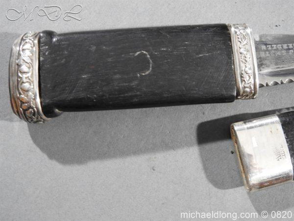 michaeldlong.com 10497 600x450 Cameron Highlanders Volunteer Sgian Dubh Silver Mounts