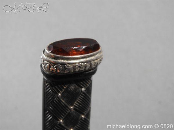 michaeldlong.com 10505 600x450 Cameron Highlanders Volunteer Sgian Dubh Silver Mounts