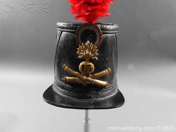 michaeldlong.com 10604 600x450 French 13th Regiment Artillery Shako c 1850