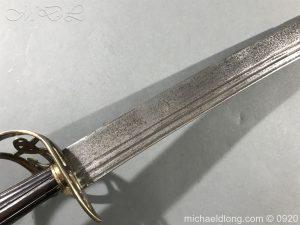 michaeldlong.com 11090 300x225 British Naval Officer's Slotted Hilt Cutlass c 1800
