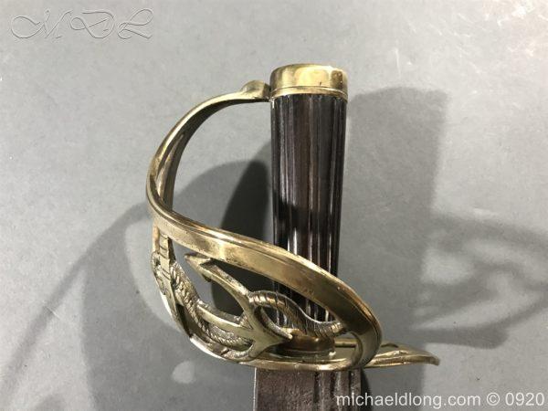 michaeldlong.com 11093 600x450 British Naval Officer's Slotted Hilt Cutlass c 1800