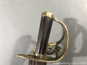 michaeldlong.com 11098 300x225 British Naval Officer's Slotted Hilt Cutlass c 1800