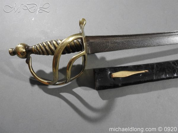 michaeldlong.com 11133 600x450 British Model 1842 Brass Hilted Hanger