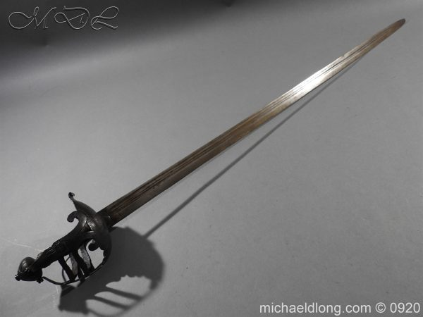 michaeldlong.com 11186 600x450 English Mortuary Sword with Hounslow Blade