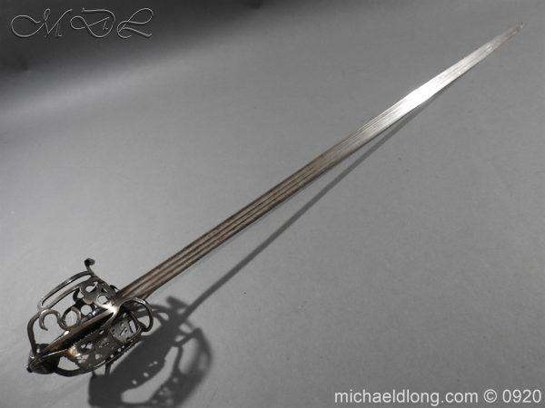 michaeldlong.com 11306 600x450 Scottish Infantry Officer's Back Sword c 1720