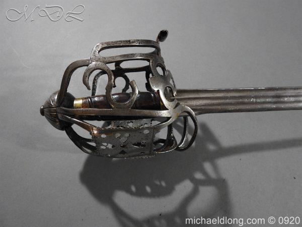 michaeldlong.com 11307 600x450 Scottish Infantry Officer's Back Sword c 1720